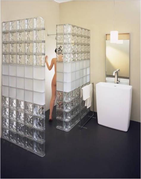 Glazed Cinder Blocks : Душ в строительном исполнении надежно удобно красиво